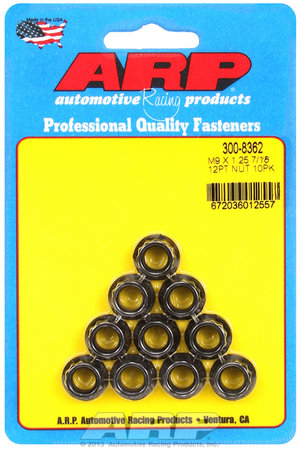 ARP M9 x 1.25  12pt nut kit 3008362