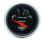 "Autometer Gauge, Fuel Level, 2 1/16"", 16?E to 158?F, Elec, Sport-Comp 3318"