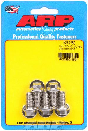 ARP 3/8-16 x 0.750 hex SS bolts 6230750