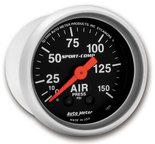 "Autometer Gauge, Air Press, 2 1/16"", 150psi, Mechanical, Sport-Comp 3320"