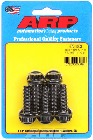 ARP M10 x 1.50 x 30 12pt black oxide bolts 6721003
