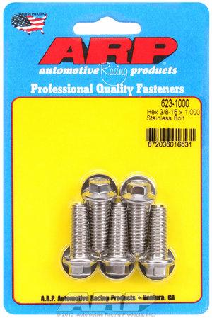 ARP 3/8-16 x 1.000 hex SS bolts 6231000