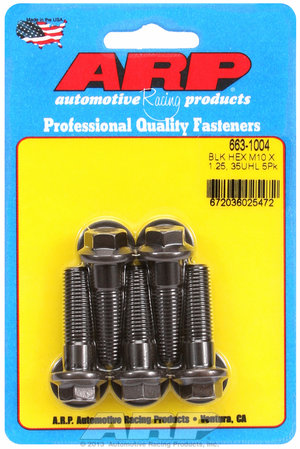 ARP M10 x 1.25 x 35 hex black oxide bolts 6631004