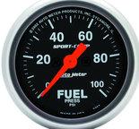 """Autometer Gauge, Fuel Pressure, 2 1/16"""", 100psi, Digital Stepper Motor, Sport-Comp 3363"""