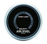 """Autometer Gauge, Air/Fuel Ratio-Narrowband, 2 1/16"""", Lean-Rich, LED Array, Sport-Comp 3375"""