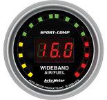 "Autometer Gauge, Air/Fuel Ratio-Wideband, Street, 2 1/16"", 10:1-17:1, Digital, Sport-Comp 3379"