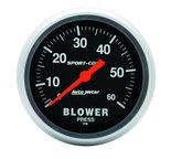 "Autometer Gauge, Blower Press, 2 5/8"", 60psi, Mechanical, Sport-Comp 3402"