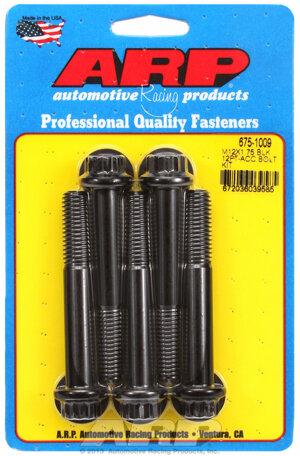 ARP M12 X 1.75 X 80 12pt black oxide bolts 6751009