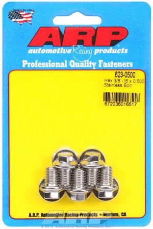 ARP 3/8-16 x 0.500 hex SS bolts 6230500