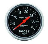 "Autometer Gauge, Boost, 2 5/8"", 35psi, Mechanical, Sport-Comp 3404"