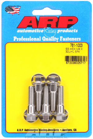 ARP M8 x 1.25 x 30 hex SS bolts 7611003