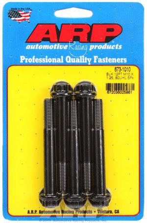 ARP M10 x 1.25 x 80 12pt black oxide bolts 6731010