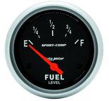 "Autometer Gauge, Fuel Level, 2 5/8"", 0?E to 90?F, Elec, Sport-Comp 3514"