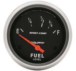 "Autometer Gauge, Fuel Level, 2 5/8"", 73?E to 10?F, Elec, Sport-Comp 3515"