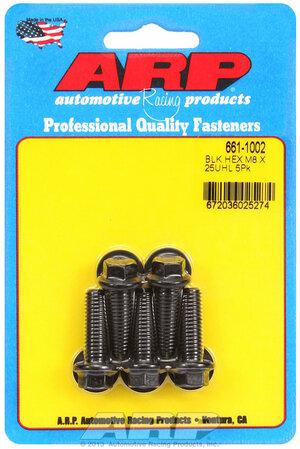 ARP M8 x 1.25 x 25 hex black oxide bolts 6611002