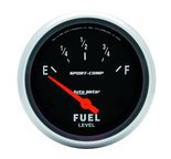 "Autometer Gauge, Fuel Level, 2 5/8"", 0?E to 30?F, Elec, Sport-Comp 3517"