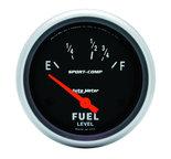 "Autometer Gauge, Fuel Level, 2 5/8"", 16?E to 158?F, Elec, Sport-Comp 3518"