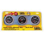 "Autometer Gauge Kit, 3 pc., OILP/WTMP/VOLT, 2 1/16"" 100psi/240şF/18V, Mech., Sport-Comp II 3600"