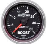 "Autometer Gauge, Boost, 2 1/16"", 35psi, Mechanical, Sport-Comp II 3604"