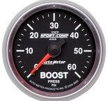 "Autometer Gauge, Boost, 2 1/16"", 60psi, Mechanical, Sport-Comp II 3605"