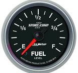"""Autometer Gauge, Fuel Level, 2 1/16"""", 0-280? Programmable, Sport-Comp II 3610"""
