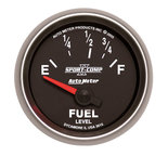 "Autometer Gauge, Fuel Level, 2 1/16"", 73?E to 10?F, Elec, Sport-Comp II 3615"