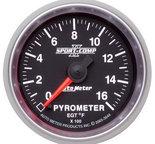 """Autometer Gauge, Pyrometer (EGT), 2 1/16"""", 1600şF, Digital Stepper Motor, Sport-Comp II 3644"""