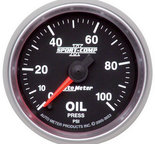 "Autometer Gauge, Oil Pressure, 2 1/16"", 100psi, Digital Stepper Motor, Sport-Comp II 3653"