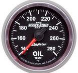 "Autometer Gauge, Oil Temp, 2 1/16"", 140-280şF, Digital Stepper Motor, Sport-Comp II 3656"