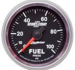 "Autometer Gauge, Fuel Pressure, 2 1/16"", 100psi, Digital Stepper Motor, Sport-Comp II 3663"