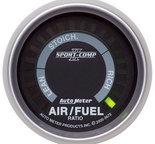"Autometer Gauge, Air/Fuel Ratio-Narrowband, 2 1/16"", Lean-Rich, LED Array, Sport-Comp II 3675"
