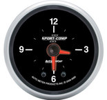 "Autometer Gauge, Clock, 2 1/16"", 12Hr, Analog, Sport-Comp II 3685"