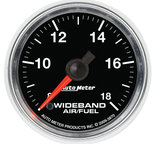 "Autometer Gauge, Air/Fuel Ratio-Wideband, Analog, 2 1/16"", 8:1-18:1, Stepper Motor, GS 3870"