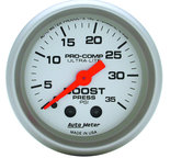 "Autometer Gauge, Boost, 2 1/16"", 35psi, Mechanical, Ultra-Lite 4304"