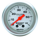 "Autometer Gauge, Boost, 2 1/16"", 60psi, Mechanical, Ultra-Lite 4305"