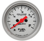 "Autometer Gauge, Fuel Level, 2 1/16"", 0-280? Programmable, Ultra-Lite 4310"