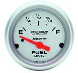 "Autometer Gauge, Fuel Level, 2 1/16"", 0?E to 90?F, Elec, Ultra-Lite 4314"