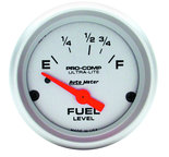 "Autometer Gauge, Fuel Level, 2 1/16"", 73?E to 10?F, Elec, Ultra-Lite 4315"