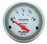 "Autometer Gauge, Fuel Level, 2 1/16"", 0?E to 30?F, Elec, Ultra-Lite 4317"