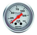 "Autometer Gauge, Air Press, 2 1/16"", 150psi, Mechanical, Ultra-Lite 4320"