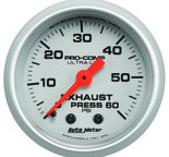 "Autometer Gauge, Exhaust Press, 2 1/16"", 60psi, Mechanical, Ultra-Lite 4325"