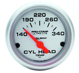 "Autometer Gauge, Cylinder Head Temp, 2 1/16"", 140-340şF, Electric, Ultra-Lite 4336"
