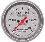 "Autometer Gauge, Air/Fuel Ratio-Wideband, Analog, 2 1/16"", 8:1-18:1, Stepper Motor, Ultra-Lite 4370"