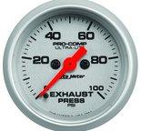 "Autometer Gauge, Exhaust Press, 2 1/16"", 100psi, Digital Stepper Motor, Ultra-Lite 4394"