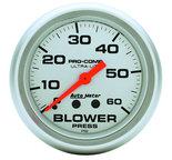 "Autometer Gauge, Blower Press, 2 5/8"", 60psi, Mechanical, Ultra-Lite 4402"
