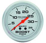 "Autometer Gauge, Boost, 2 5/8"", 35psi, Mechanical, Ultra-Lite 4404"