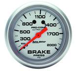 "Autometer Gauge, Brake Pressure, 2 5/8"", 2000psi, Mechanical, Ultra-Lite 4426"