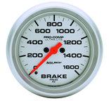 """Autometer Gauge, Brake Press, 2 5/8"""", 1600psi, Digital Stepper Motor, Ultra-Lite 4467"""