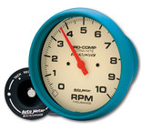 "Autometer Gauge, Tach, 5"", 10k RPM, In-Dash, w/Peak Memory, Glow in Dark, Ultra-Nite 4594"