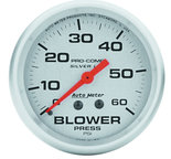 """Autometer Gauge, Blower Press, 2 5/8"""", 60psi, Liquid Filled Mech, Ultra-Lite 4602"""